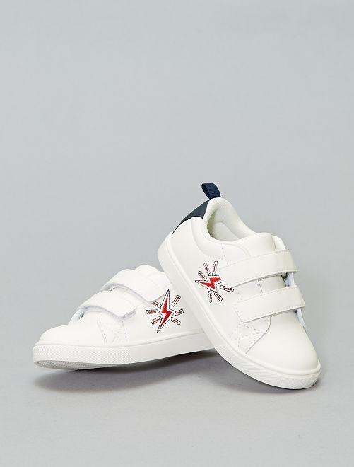 Zapatillas con velcro bordadas 'rayo'                                         blanco Zapatos