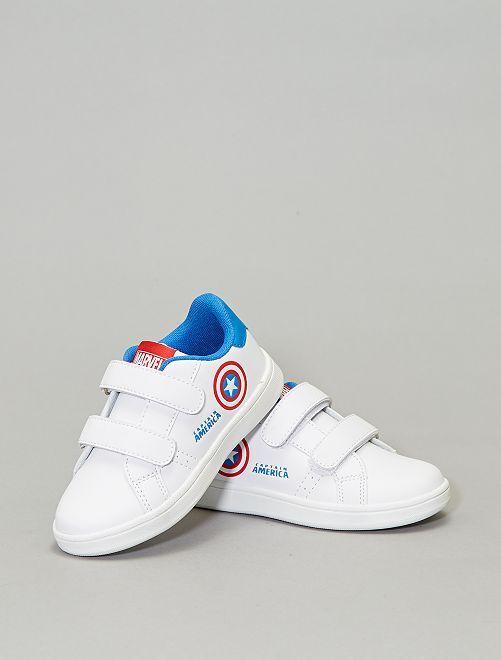Zapatillas con velcro 'Capitán América'                             blanco
