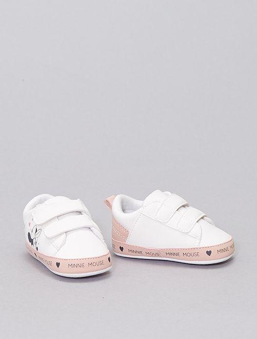 Zapatillas con velcro 'Minnie'                             BLANCO