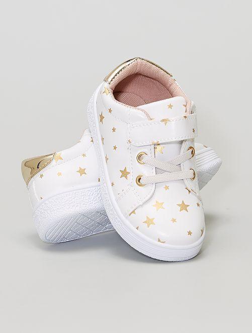 Zapatillas con velcros                             blanco