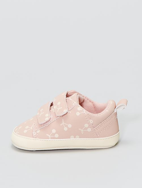 Zapatillas con velcros                             ROSA