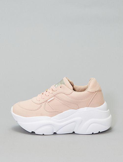 Zapatillas de ante                             beige