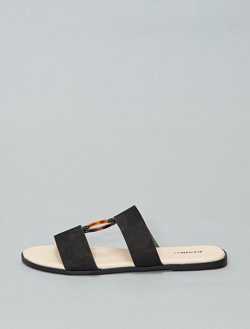 Zapatillas de baño destalonadas                             negro Mujer talla 34 a 48