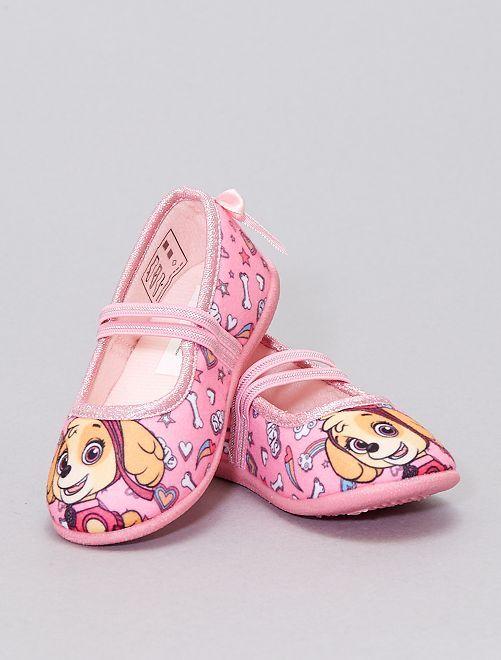 Zapatillas de cada tipo manoletinas 'La Patrulla Canina'                             ROSA