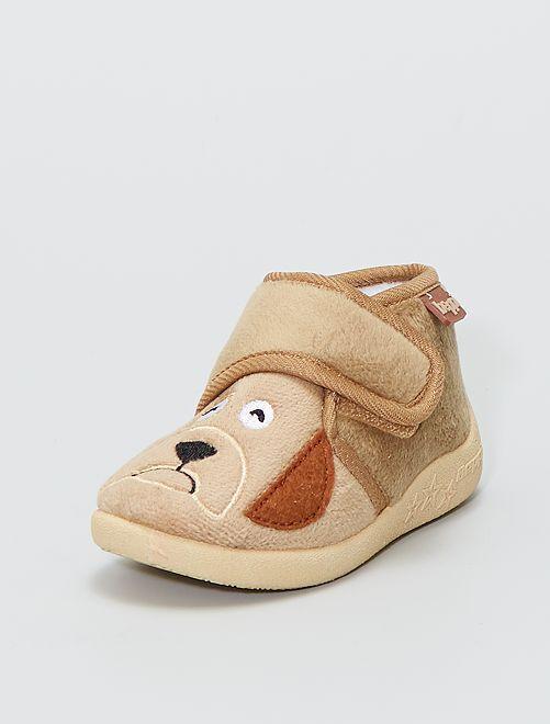 Zapatillas de casa altas 'Beppi' perro                             BEIGE
