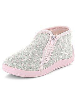 Niña 0-36 meses Zapatillas de casa altas con estampado 'corazones'