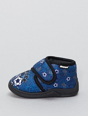 Zapatillas de casa altas con velcro - Kiabi