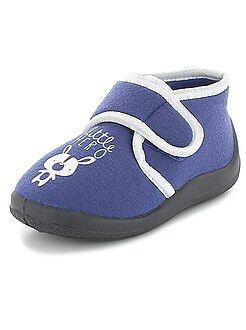 Zapatos bebé - Zapatillas de casa altas con velcro 'little hero'