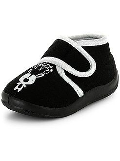 Zapatos, zapatillas - Zapatillas de casa altas con velcro 'little hero'