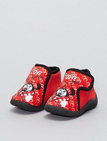 Niña 0-36 meses - Zapatillas de casa altas con velcro 'Minnie' 'Disney' - Kiabi
