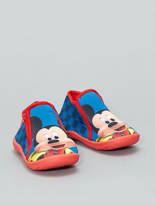 Zapatillas de casa altas de 'Mickey'                             azul Bebé niño