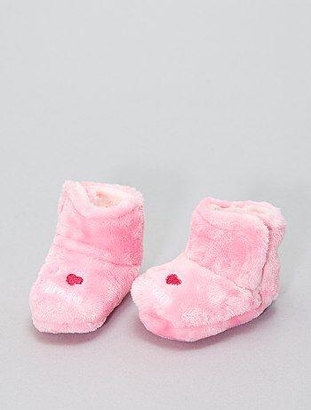 Zapatillas de casa altas de punto de felpa - Kiabi