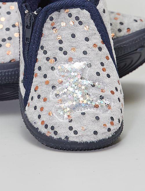 Zapatillas de casa altas de ratina                             gris