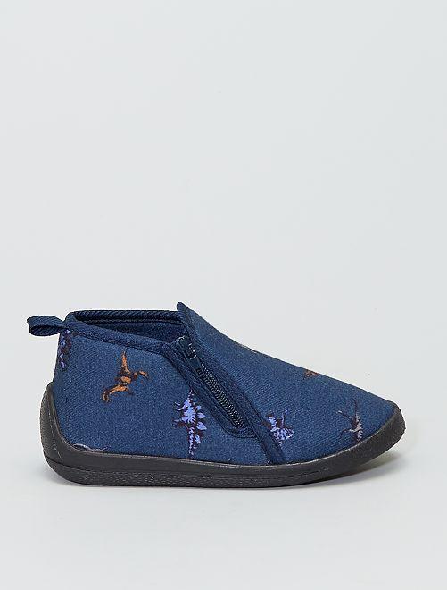 Zapatillas de casa altas 'dinosaurios'                             azul navy