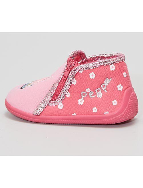 Zapatillas de casa altas 'Peppa Pig'                             rosa