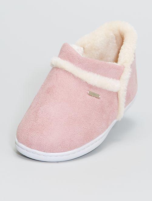 Zapatillas de casa bajas forradas                             rosa