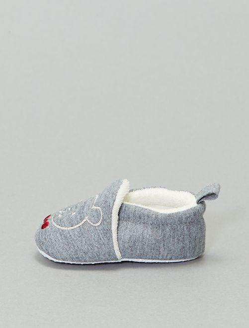 Zapatillas de casa bordado 'conejo'                                 antractita