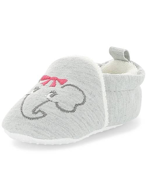 Zapatillas de casa bordado 'conejo'                                                                 gris Bebé niña