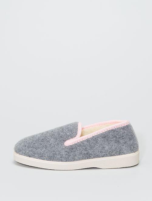 Zapatillas de casa clásicas forradas                             gris