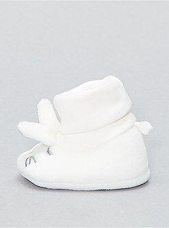 Niña 0-24 meses Zapatillas de casa con cabeza de conejo