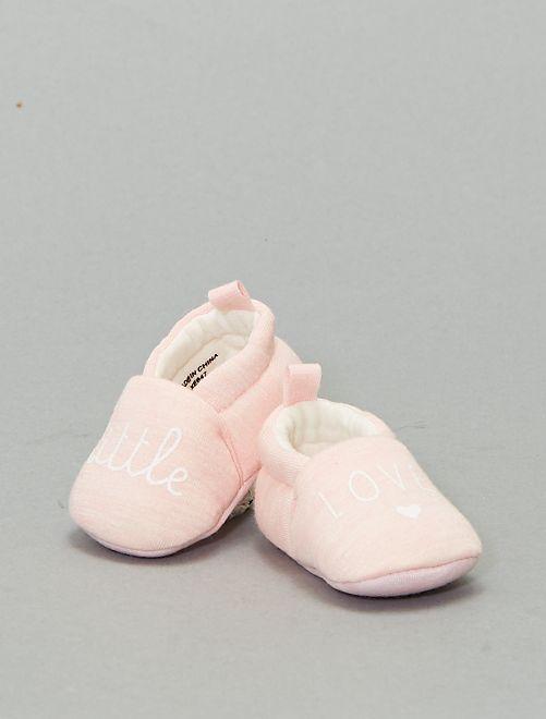 Zapatillas de casa con mensaje                                         rosa