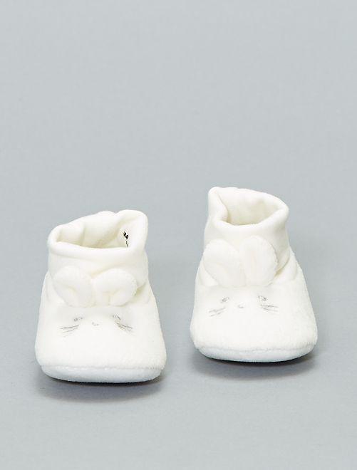 Zapatillas de casa 'conejo' 'eco-concepción'                     blanco