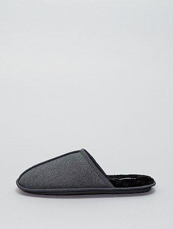 Hombre talla S-XXL - Zapatillas de casa de antelina - Kiabi