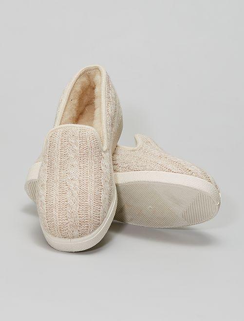 Zapatillas de casa de lana                             gris