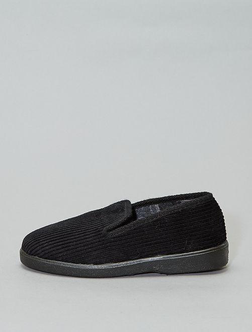 Zapatillas de casa de pana                             negro