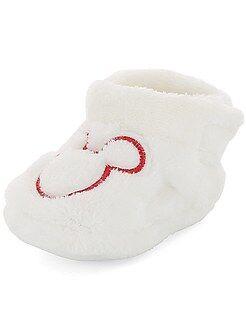 Niño 0-36 meses - Zapatillas de casa de peluche 'Mickey' - Kiabi