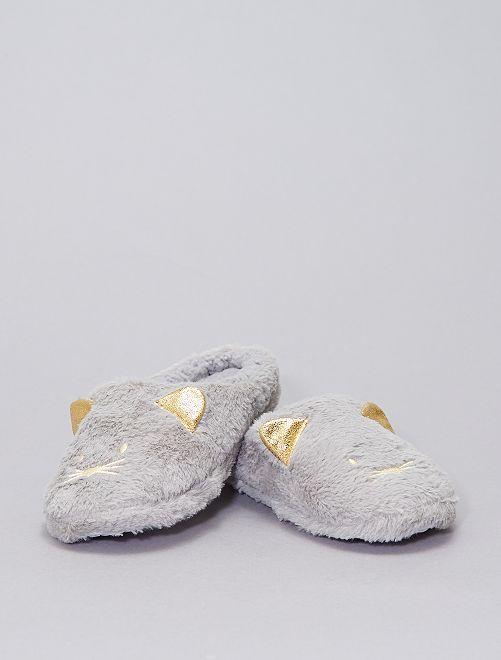 Zapatillas de casa de punto                                         gris