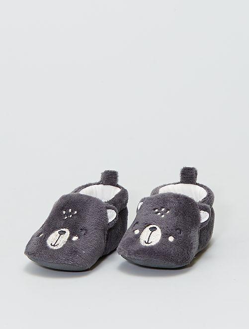 Zapatillas de casa de ratina                                         BLANCO