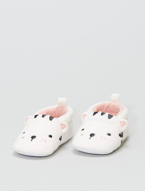 Zapatillas de casa de ratina                                         blanco nieve