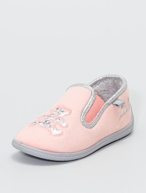 Zapatillas de casa de ratina 'Lulu Castagnette'                             rosa