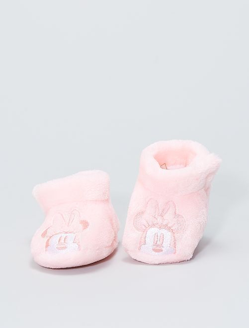 Zapatillas de casa de ratina 'Minnie'                                         rosa claro