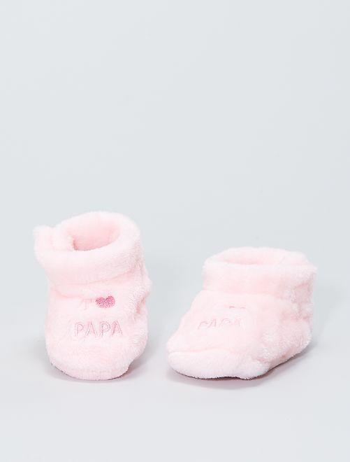 Zapatillas de casa de ratina                                         rosa