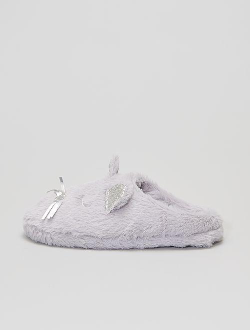 Zapatillas de casa de ratón                                         gris