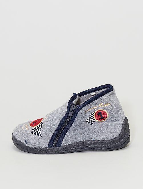 Zapatillas de casa de tejido polar                             gris