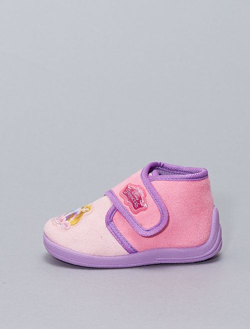 Zapatillas de casa de tejido polar 'Princesas Disney'                             ROSA
