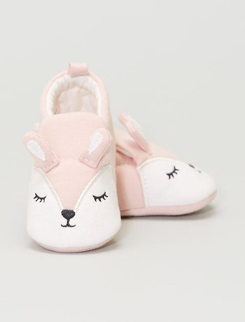 Zapatillas de casa de tela 'conejo'                                         ROSA