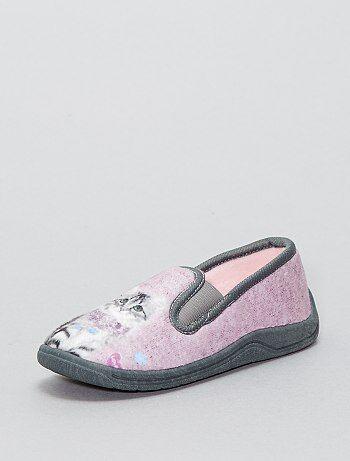 Zapatillas de casa de tela de 'gato' - Kiabi