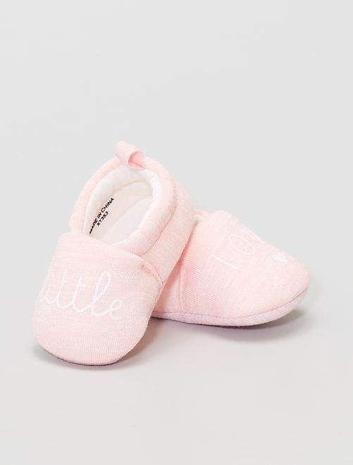 Zapatillas de casa de tela                                         rosa