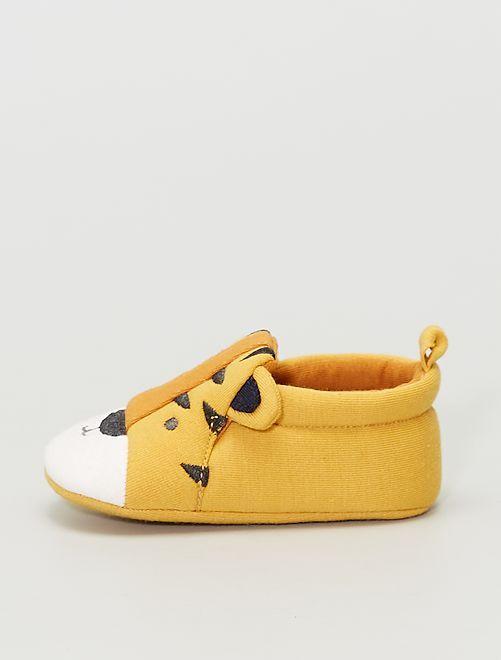Zapatillas de casa de tela 'conejo'                     AMARILLO