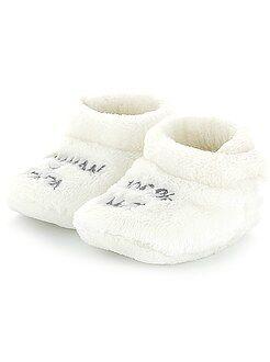 Niño 0-36 meses - Zapatillas de casa de terciopelo con velcro - Kiabi