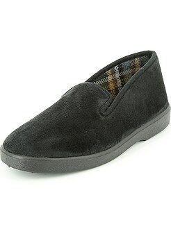 Zapatillas - Zapatillas de casa de terciopelo