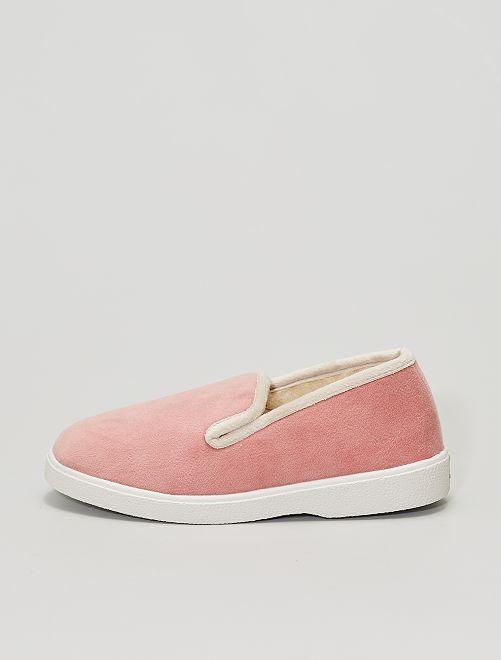 Zapatillas de casa de terciopelo                             rosa