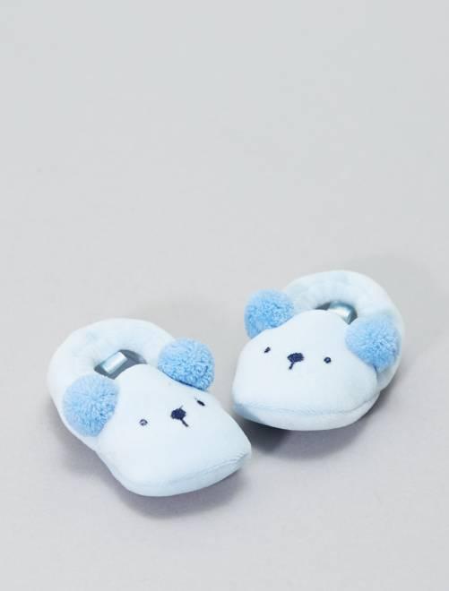 419fccd1ef9 Zapatillas de casa decoradas con cabezas de animales Bebé niño - GRIS -  Kiabi - 6