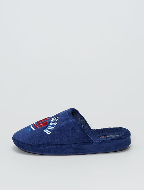 Zapatillas de casa destalonadas                             AZUL