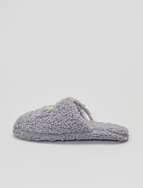 Zapatillas de casa destalonadas                             gris