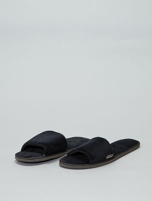 Zapatillas de casa destalonadas                                                                 negro Mujer talla 34 a 48
